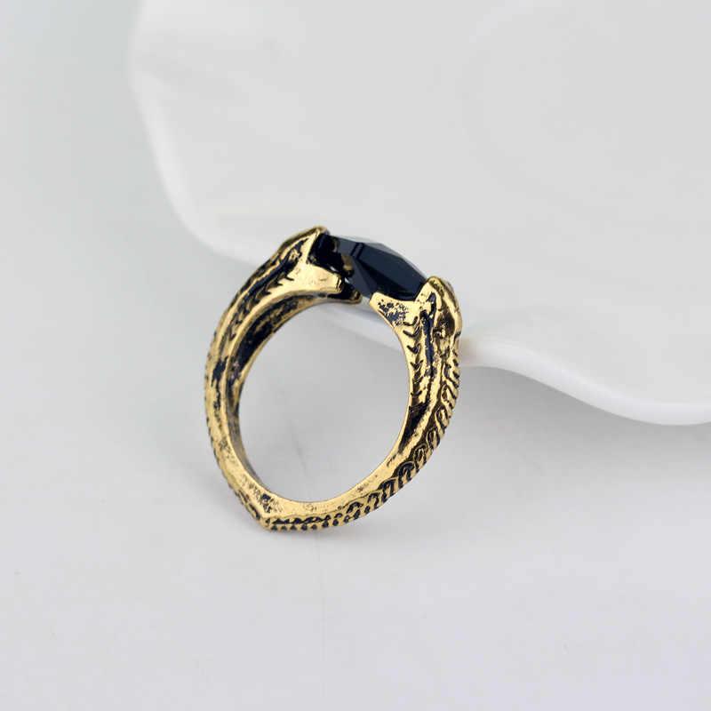 2018 moda bronze figuras de brinquedo de ação anéis as relíquias mortais anéis homem dedo preto ressurreição pedra masculino anel