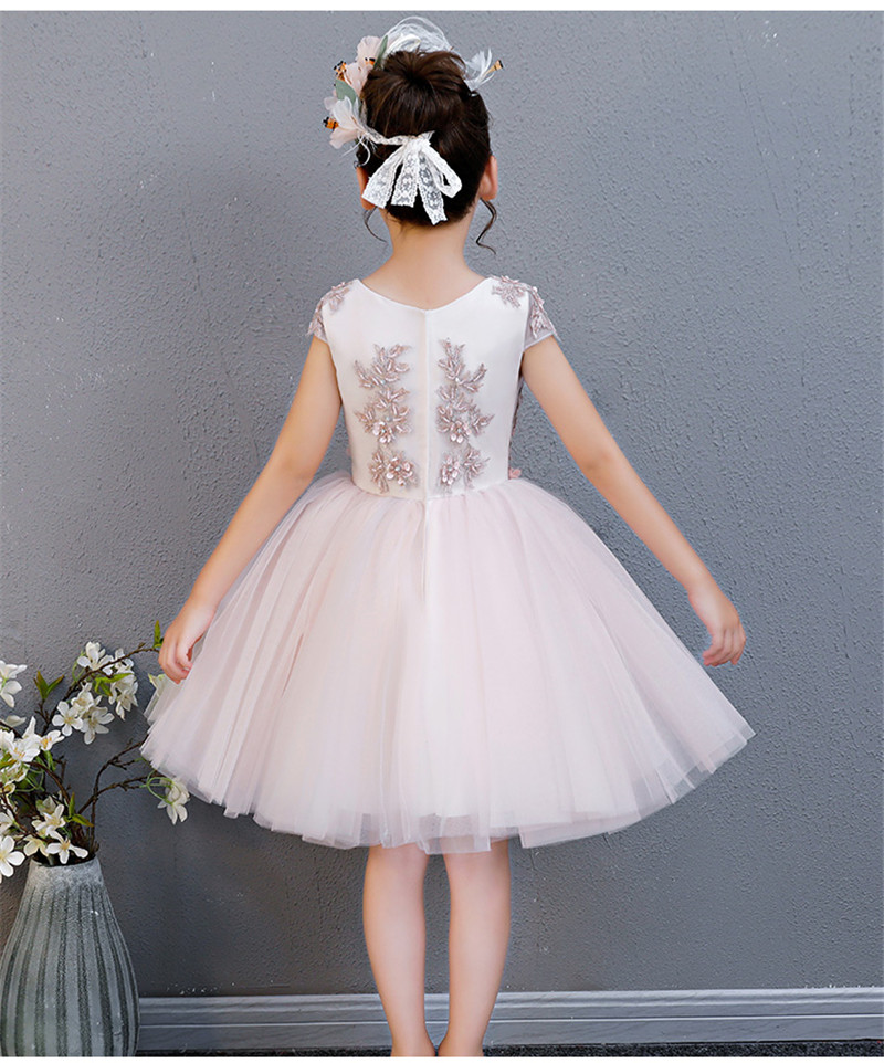 857bc0e2cf1ec Baby Girls Summer Lace Princess Party Dresses Children Kids Flowers  Birthday Wedding Dress For 3-15 Years Kids Causal Clothing