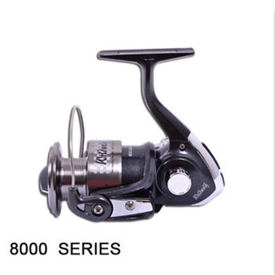 цена на Hot Sale 8000 Series New Arrival HAIBO For Fishing 3+1 Ball Bearings 8000 Series Spinning Reel Material Metal Fish Wheel