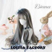 Принцесса Сладкая японская Лолита wigday Лолита парик Диана постепенно красит Лолита длинные вьющиеся волосы AG070