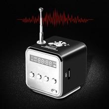 TD-V26 Мини Радио FM цифровой портативный колонки с FM приемник Поддержка SD/TF карты для Mp3 плеера зарядка через usb