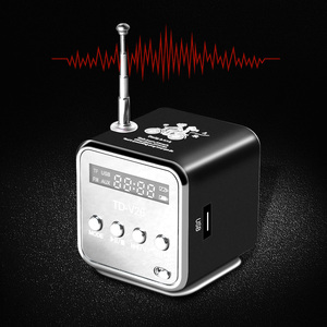 TD-V26 Mini Radio FM Digital Portable Speakers with FM Radio Receiver Support SD/TF Card for Mp3 Music Player USB Charging(China)