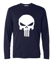 The Punisher Long Sleeve T Shirts Streetwear Skull Tops Funny Hip Hop T Shirts 2017 Summer