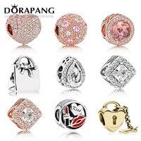 Dorapang 925スターリングシルバー品質スタイルエナメルクリスタルクリスマスチャームビーズフィットブレスレットdiyブレスレット工場卸売