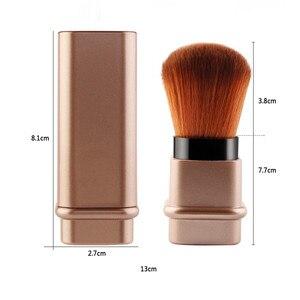 Image 5 - Portable 1Pcs Intrekbare Borstel Kleine Telescopische Borstel Cosmetische Gezicht Blusher Verstelbare Poeder Foundation Blush Brush voor Reizen