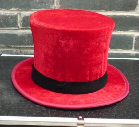 Red Folding Top Hat Magic Trick,Accessories,Stage Magic Props,Close Upmagic,Mentalism,Fun,Magia Toys,Gadgets,Joke collapsible top hat stand side table magic trick stage magic props close up magic mentalism fun gimmick magia table props