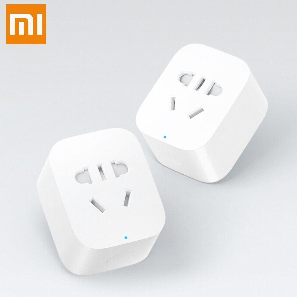 imágenes para Original xiaomi inteligente socket plug bacic wifi remoto inalámbrico acepta ee.uu. au de la ue adaptador de enchufe