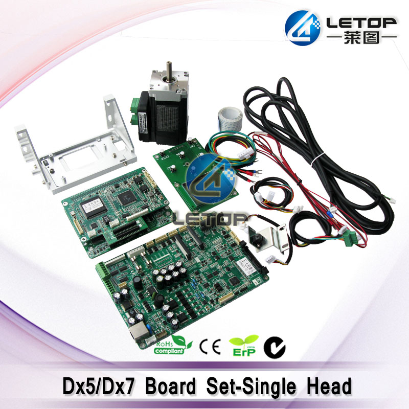 whole set! Single dx5/dx7 head mainboard with motor cable head board for eco solvent printer
