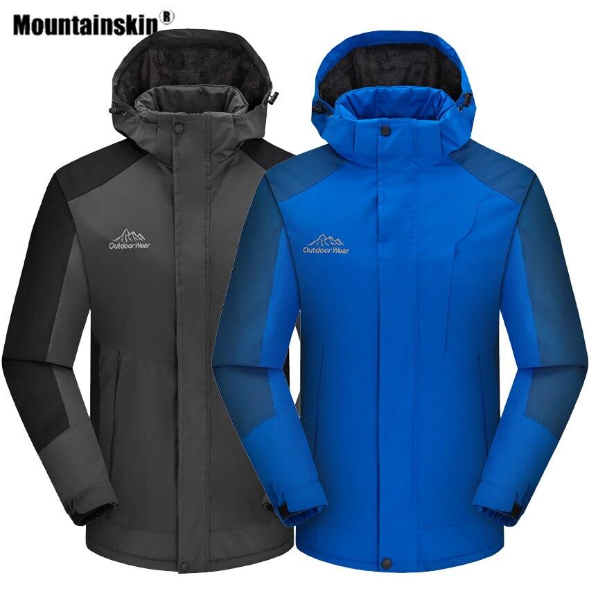 Mountainskin Men's Winter Thick Hiking Softshell Jacket Outdoor Sport Windbreaker Climb Camping Trekking Thermal Male Coat VA560