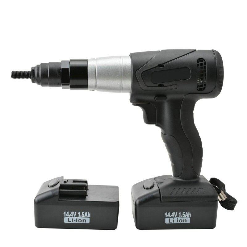 free ship industry grade cordless riveter electric rivet gun nut pull tool lithium <font><b>battery</b></font> riveting tool taiwan made M6/<font><b>M8</b></font>/M10