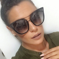 2017 Fashion Sunglasses Women Luxury Brand Designer Sun Glasses Ladies For Female UV400 Shades Points Lunettes