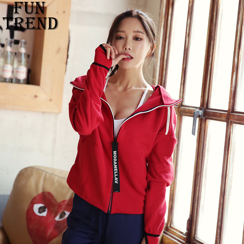 Sport Jacket Hoodies Women Jacket Coat Winter Coat Zipper Cotton Hoodie Sweatshirt Sport Shirt Running Jacket Fitness Yoga Shirt