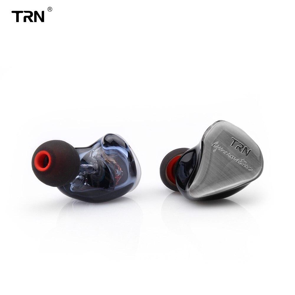 TRN IM1 1DD + 1BA híbrido en la oreja los auriculares HIFI DJ Monitor deporte del auricular auriculares con 2PIN desmontable TRN V20/V60