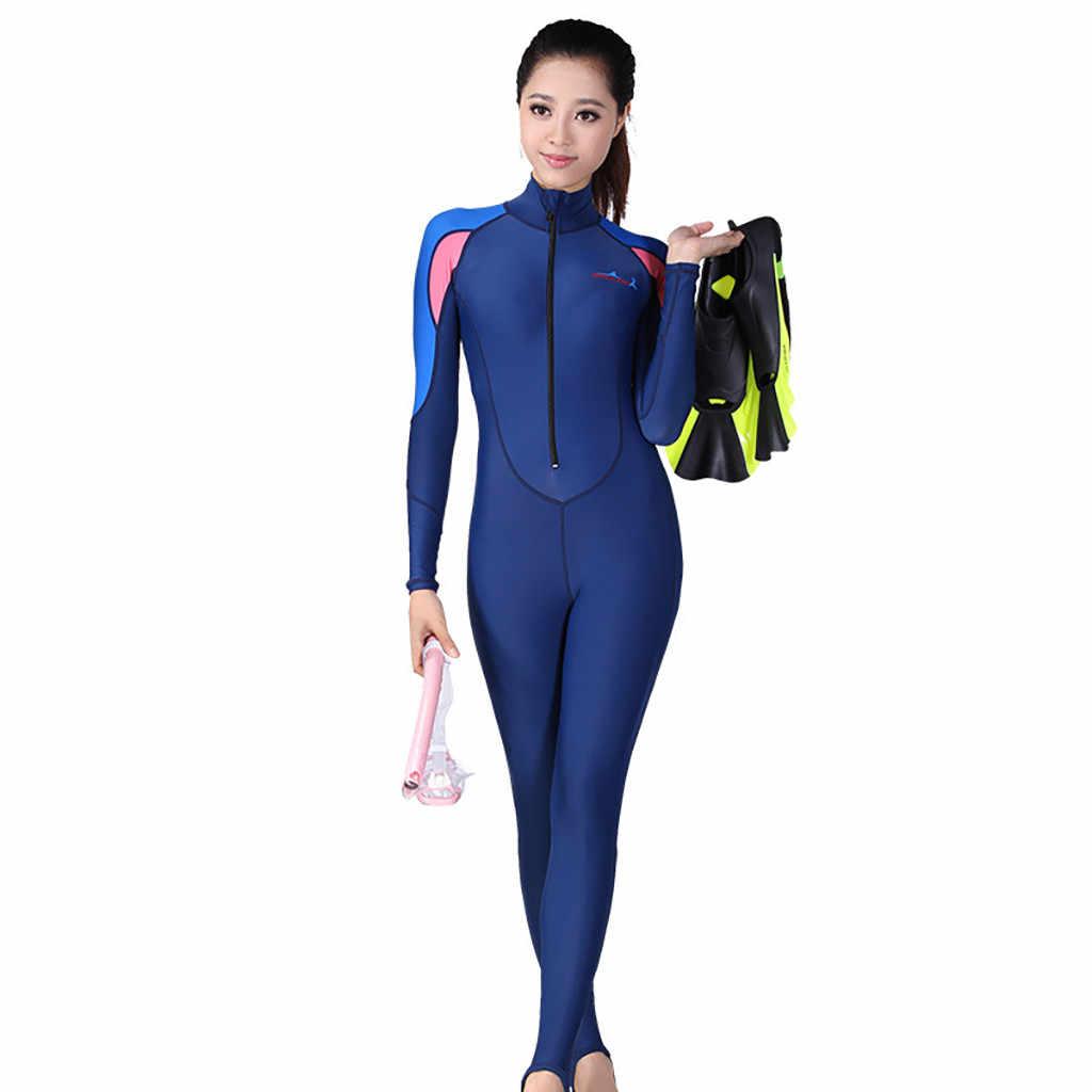 Perimedes wetsuit Duikpakken Vrouwen UV Bescherming Multi-functionele Zonnebrandcrème Een Stuk Full body Lange Mouwen Badpak # g45