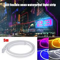 Flex Tube 12V LED Wedding Party Neon 5M RV Lawn Car Lamp Decor Cardecor Club Boat Strip Light Waterproof