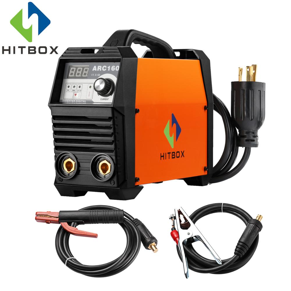 HITBOX New ARC Welders ARC160 Digital Welding Machine With TIG Torch Earth Clamp Electrode Holder цена