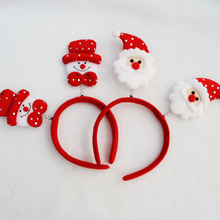 Hot Sell Children Christmas Decorations Santa Claus Antlers Sequin Fawn Headband Head Buckle Baby Christmas Party Headwear