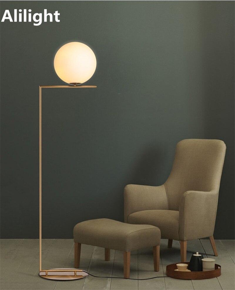 Moderne Kreative Einfache Stil Gold Stehlampen Glaskugel Stehen .