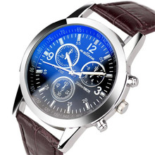 Fashion Faux Leather Mens Analog Quarts Watch Men Wrist Watches 2016 Mens Watches Top Brand Luxury Casual Watch Man wholesale