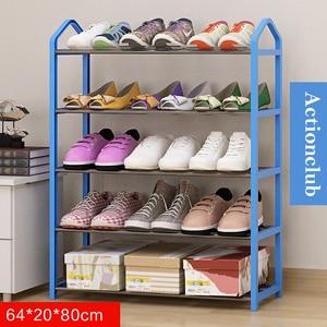 Image 5 - Actionclub シンプルな多層金属鉄靴棚学生寮の靴収納ラック DIY 靴キャビネット家庭用家具