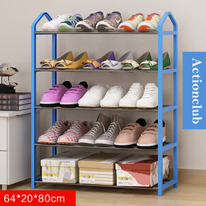Image 5 - Actionclub بسيط متعدد الطبقات معدن الحديد رف للأحذية طالب عنبر حذاء تخزين الرف لتقوم بها بنفسك خزانة خذاء أثاث منزلي