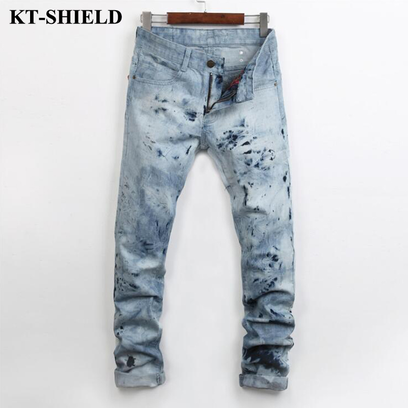 Fashion Biker Men Jeans Famous brand Design Slim fit Denim Trousers for Man Vaqueros hombre Cotton Hip Hop Ripped Jeans Pants black jeans men biker ripped hip hop casual man denim pants trousers slim fashion full length cotton masculina pantalones hombre