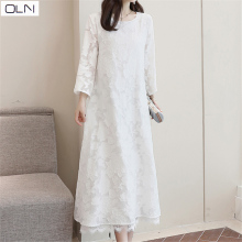 Spring and summer Korean Japanese spring 2019 loose slim dresss