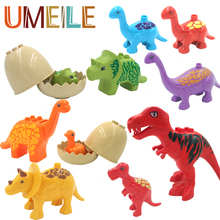 UMEILE Duplo Jurassic World Dinosaur Large Particle Building Blocks Baby Toys Animal Set Brick Compatible with Duplo Gift
