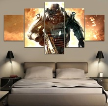 Fallout 3 Game 5 Piece Paintings Wall Art Canvas Modern Decor Painting HD Print Home Room Artwork