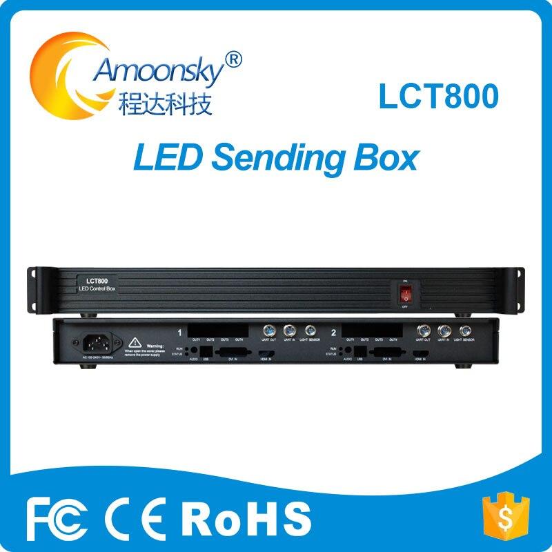 Amoonsky LCT800 boîte d'expéditeur avec 1 prise en charge du port réseau HDMI 4 2 carte d'envoi nova msd600 pour affichage led tv
