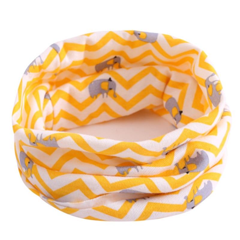 Весенний детский хлопковый шарф, теплый шарф для маленьких детей, осенне-зимние шарфы с героями мультфильмов для мальчиков и девочек, детский воротник с круглым вырезом, волшебный шейный платок - Цвет: 30