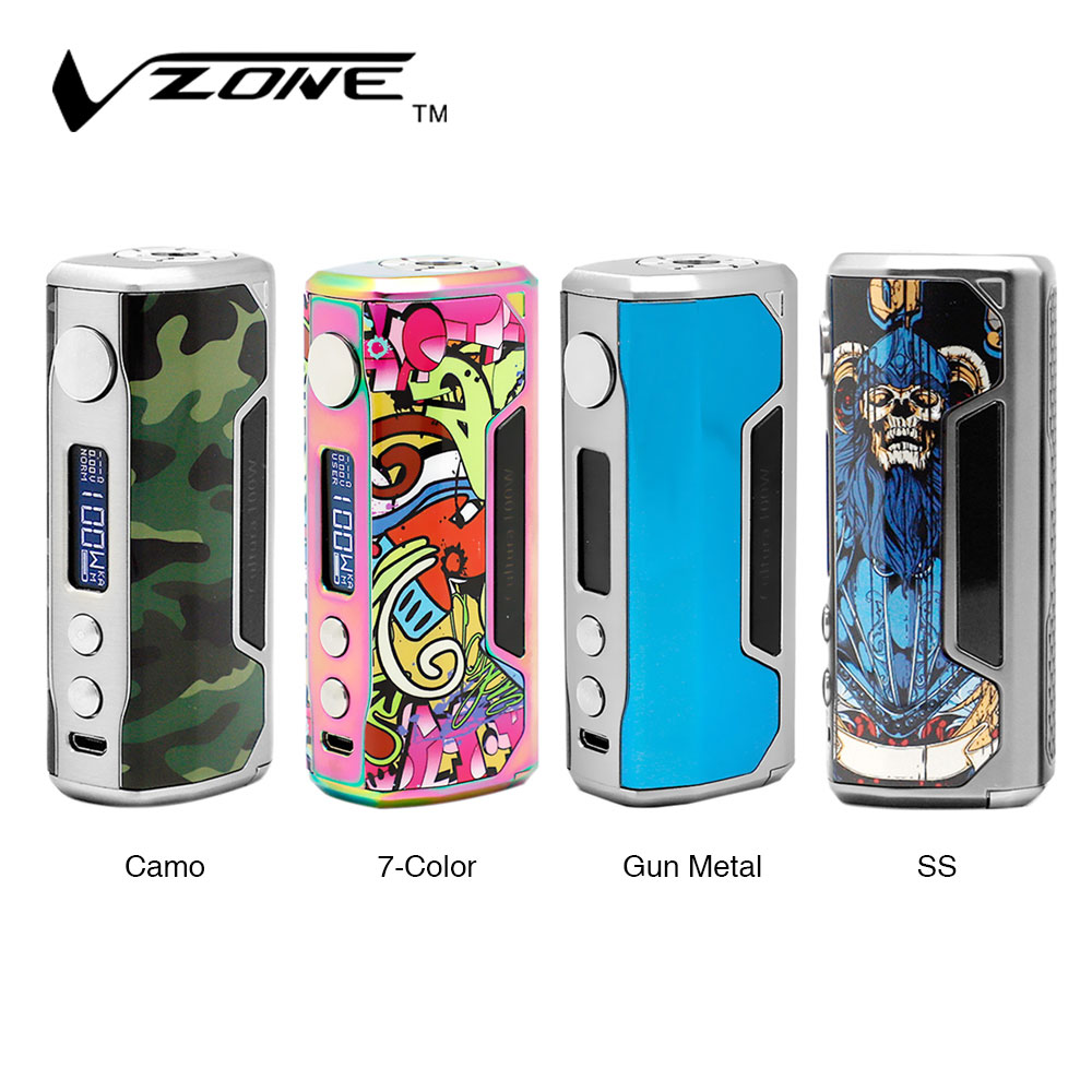 Original Vzone Cultura 100W TC Box MOD Max Output 100W VW/ TC Box MOD with Advanced Chip Set No 18650/ 20700 Battery E-cig Vape original ijoy saber 20700 vw mod with 100w max output