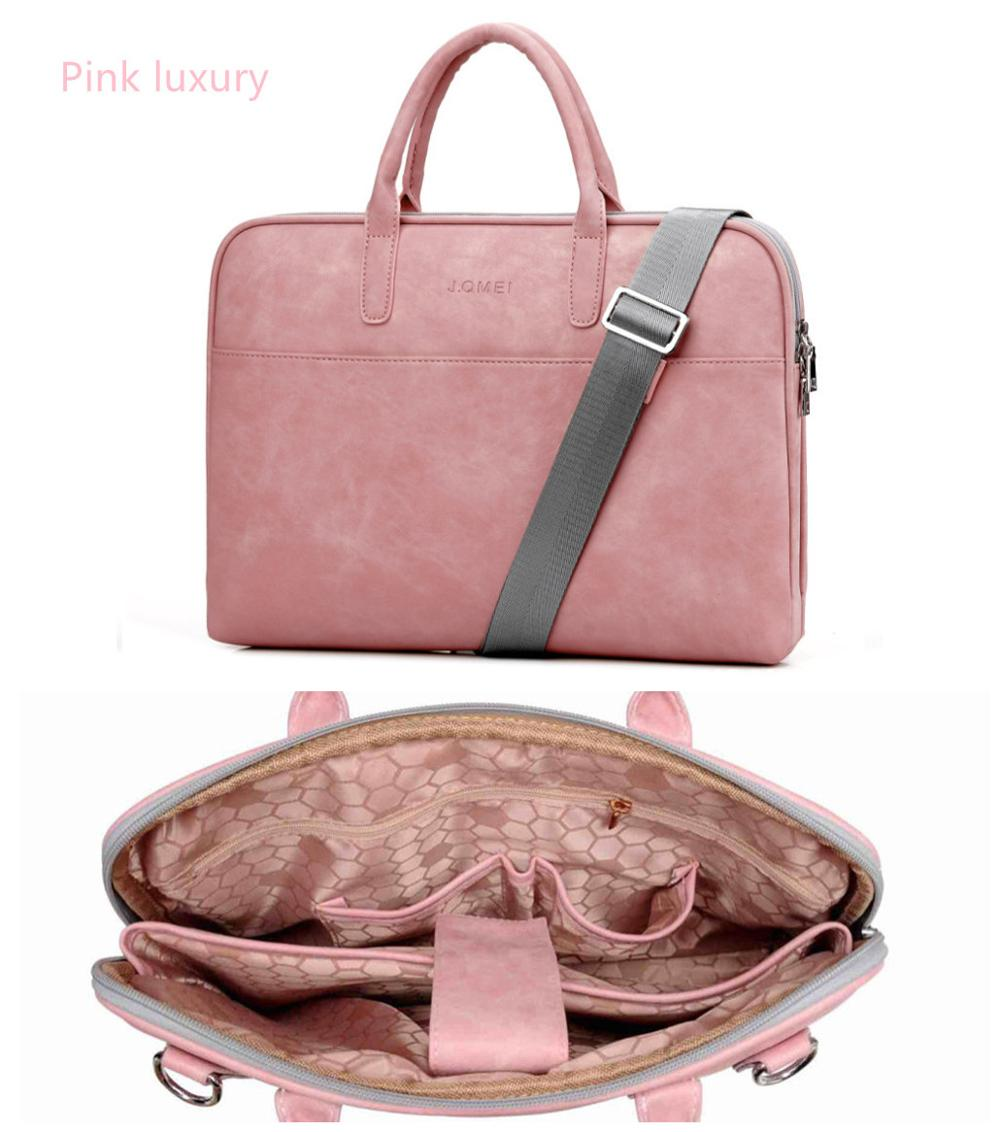 Us 23 32 35 Off Fashion Pu Leather Laptop Bags For Women 14 15 6 17 3 Inch Macbook Air 13 Casual Portable Waterproof Notebook Bag In