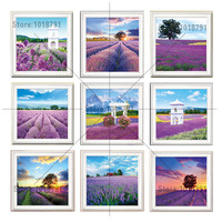 Needlework 5d Diamond Embroidery Flowers Landscape Lavender Mosaic Painting Pictures Patterns Tree Beads Icon Puzzle Picture