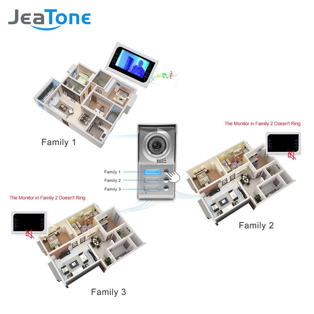 JeaTone Ev Güvenlik Video Interkom Sistemi 10