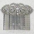 Atacado 12 peças/lote Claros De Cristal Rhinestone cabelo Pente L045 Um