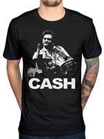 Men S Fashion Johnny Cash Middle Finger T Shirt Heavy Metal Rock Band Merchendise Design T