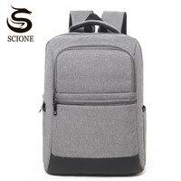 Scione Men Canvas Laptop Backpack High School Bags For Teenagers Women Waterproof Travel Backpack Notebook Rucksack