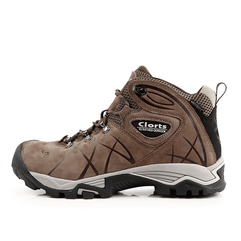 Prix pour 2016 clorts hommes randonnée chaussures hkm-802a réel cuir imperméable en plein air randonnée bottes en caoutchouc de sport sneakers pour hommes