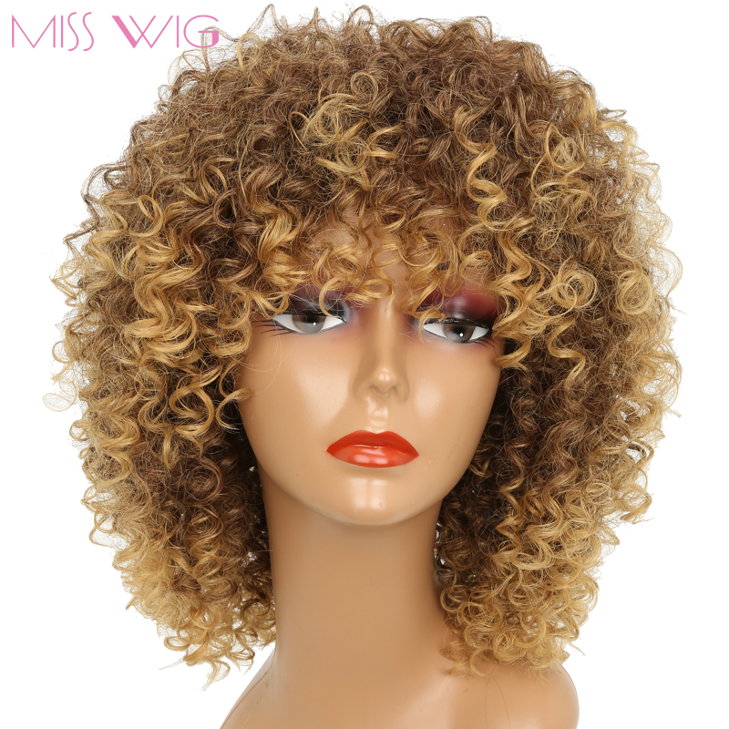 Miss Wig 16inches Long Afro Kinky Curly Wigs For Black
