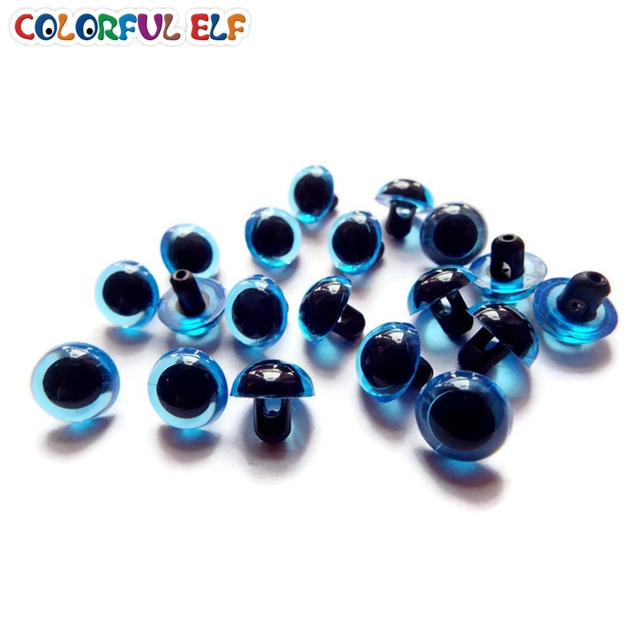 Free Shipping 9mm/10.5mm/12mm Blue Plastic Sewing Eyes For Toy 100pcs/lot  DIY Doll Accessories