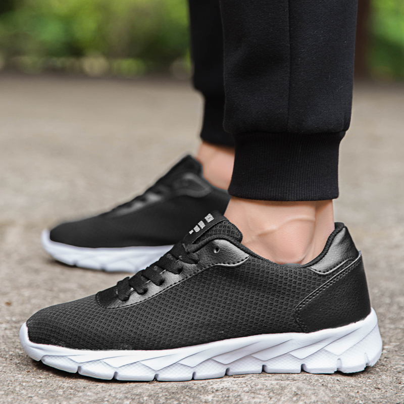 HEFLASHOR Plus Size 35-48 Man Sneaker Super Light Weight Lace Up Shoes Air Mesh Couple Shoes Casual Daily Sneakers(China)