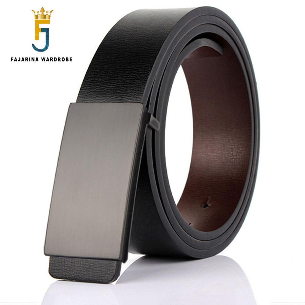 FAJARINA Brand Mens Quality Design PU 2nd Layer Genuine Leather Black Fashion   Belts   Male Jeans   Belt   Apparel Accessories for Men