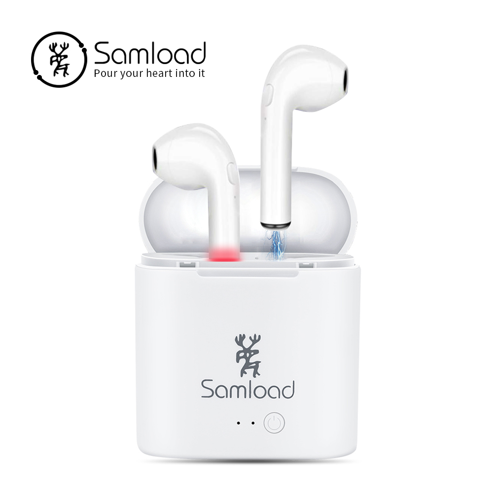 TWS Bluetooth Earphones Wireless Headphones Stereo Ear buds Air Pods Earpiece with mic Headset For Samsung Xiaomi Huawei LG I7S i7s tws true wireless earphones bluetooth headset hands free stereo earbuds with mic double earpiece for iphone samsung xiaomi