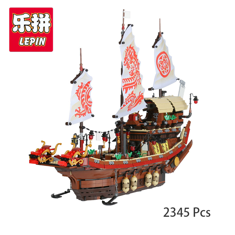 Lepin 06057 Ninjagoing Movie Destiny's Bounty Building Bricks Blocks Toy For Kids Educational Gift Compatible with Legoing 70618 dhl in stock lepin 06057 2455pcs ninja final fight of destiny s bounty ship building blocks bricks set diy toys fit for 70618