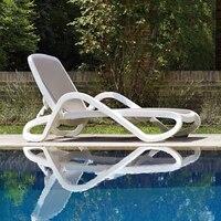 Пластик белый цвет мебель, шезлонг лежак для бассейн патио мебель к морской порт по морю
