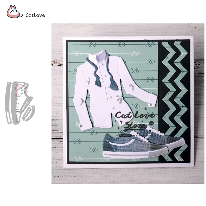 Cloth Shoes Sneaker Metal Cutting Dies Stencil For DIY Scrapbooking Paper Card Decorative Craft Dies Embossing Die Cuts New 2019