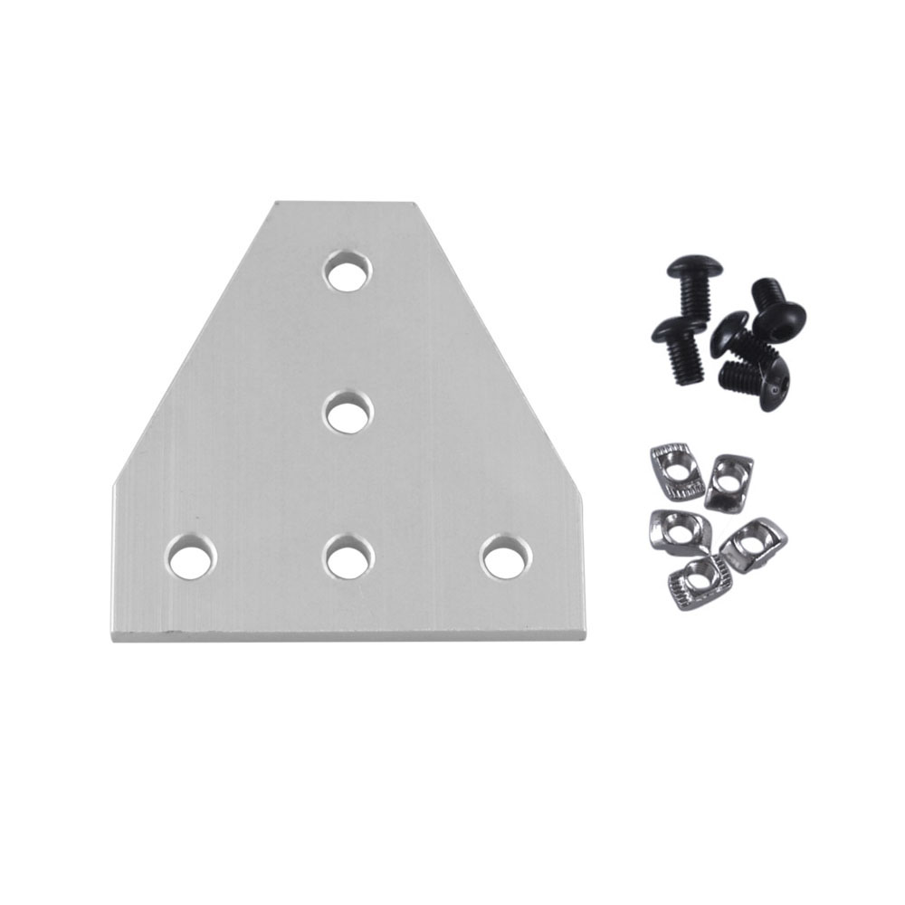 90 Degree T Shape Outside Joining Plate with M8 4040 Series T Nuts and Semi-round M8x16 head Hex screws Combination90 Degree T Shape Outside Joining Plate with M8 4040 Series T Nuts and Semi-round M8x16 head Hex screws Combination