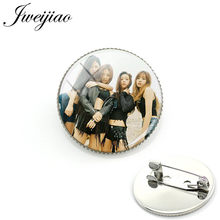 JWEIJIAO Kpop Korean Singers Black Pink Blackpink Brooch Pin Badge Album Photo Glass Gems Jewelry For Clothes Hat Backpack BP16(China)