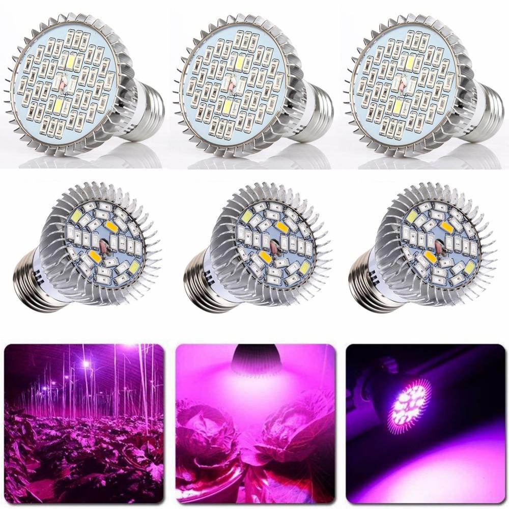 3pcs LEDs 15W 20W 30W Full Spectrum Plant Grow Light E27 LED Hydroponic D20